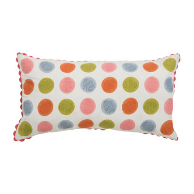 Rizzy Home Adrian Polka Dots Pattern Filled Pillow