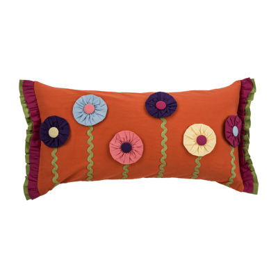 Rizzy Home Cameron Floral Pattern Filled Pillow
