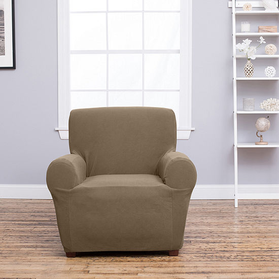 Cambria Collection Deluxe Heavyweight Form Fit Strapless Armchair Slipcover