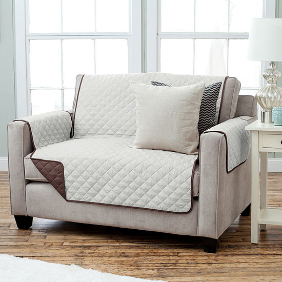 Deluxe Reversible Quilted Loveseat Protector