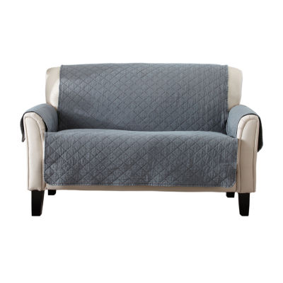 Deluxe Stonewashed Quilted Loveseat Protector