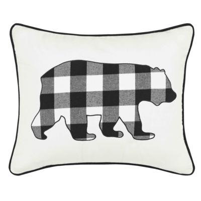 Eddie Bauer Cabin Plaid Bear Breakfast Pillow