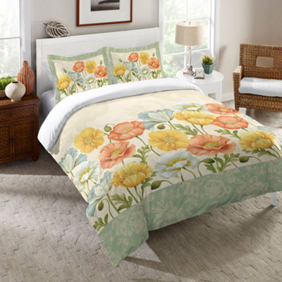 Laural Home Pastel Poppies Comforter