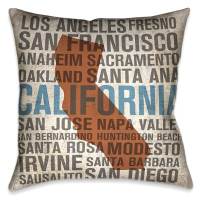 Laural Home California State Decorative Pillow