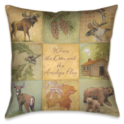 Laural Home Deer and Antelope Decorative Pillow