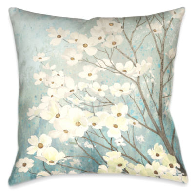 Laural Home Dogwood Blossoms Decorative Pillow