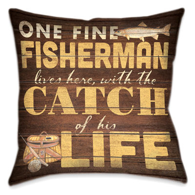 Laural Home Fine Fisherman Decorative Pillow