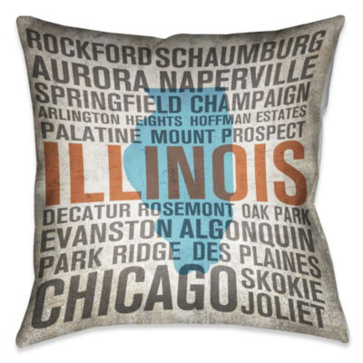 Laural Home Illinois State Decorative Pillow