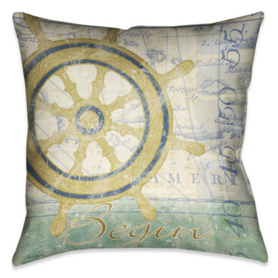 Laural Home Mariners Sentiment II Decorative Pillow