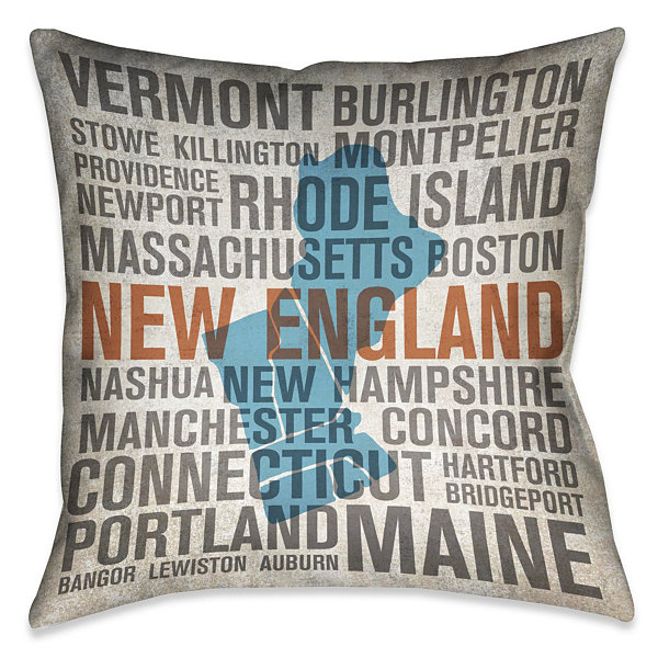 Laural Home New England State Decorative Pillow