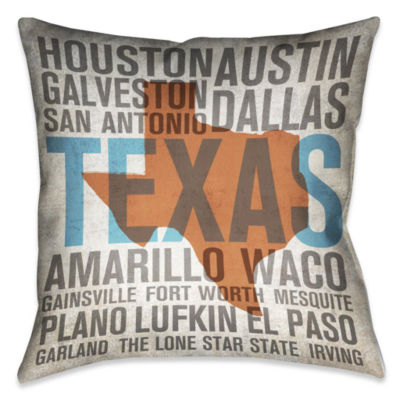 Laural Home Texas State Decorative Pillow