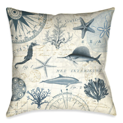 Laural Home Ocean Life Decorative Pillow