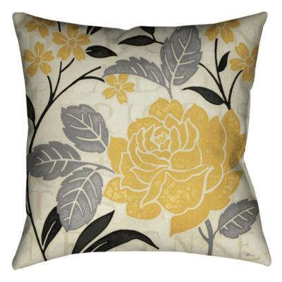 Laural Home Perfect Petals I Decorative Pillow