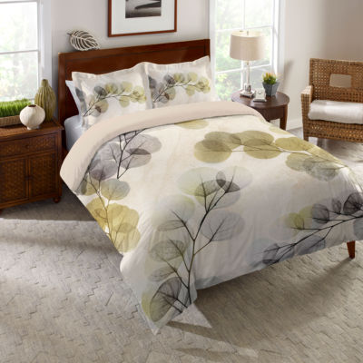 Laural Home Smoky X-Ray of Eucalyptus Leaves Duvet Cover
