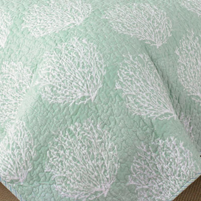 Laura Ashley Coral Coast Mist Quilt Set