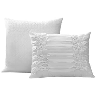 City Scene Triple Diamond 2-PK White Decorative Pillows