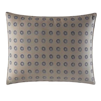 City Scene Milan Blue Decorative Pillow