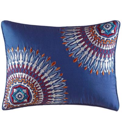 Azalea Skye Hanna Medallion Navy Decorative Pillow
