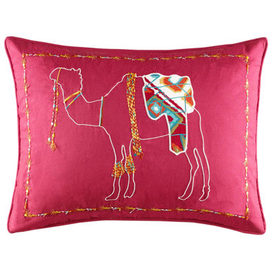 Azalea Skye Moroccan Nights Red Decorative Pillow