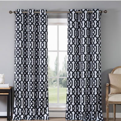 Duck River Textiles Ashmont Printed Blackout Grommet Pair Panel