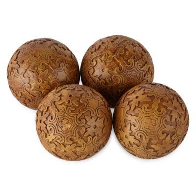 JCPenney Home Villa Wood Filler Set Decorative Balls