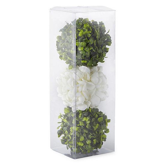 JCPenney Home Spring Floral Ball Filler Set Of 3 Floral Arrangement