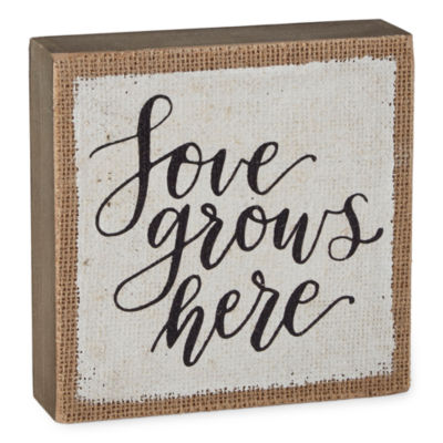 JCPenney Home Spring Word Sign Love Grows Here Wall Sign
