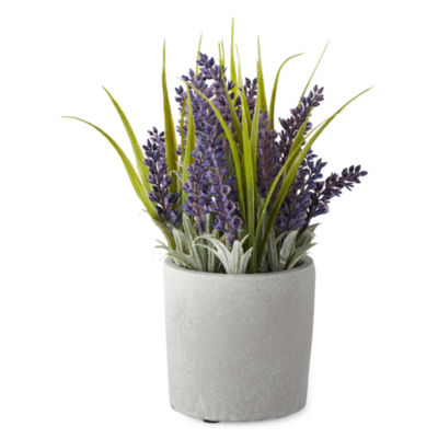 JCPenney Home Spring Floral Topiary Lavender