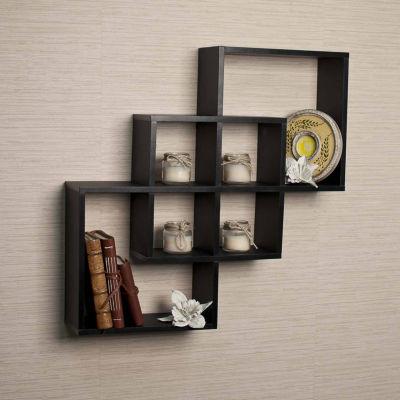 Danya B. Intersecting Squares Decorative Wall Shelf