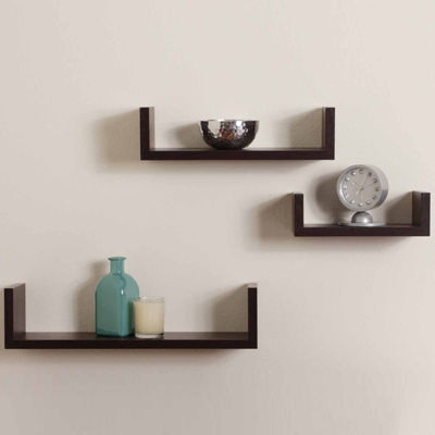 Danya B. Floating 'U' Laminated Shelves (Set of 3)