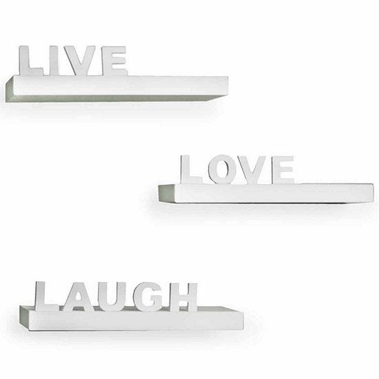 Danya B Decorative Live Love Laugh Wall Shelves Set Of 3