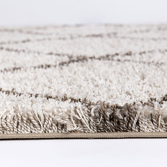 Concord Global Trading Ocean Shag Collection Area Rug