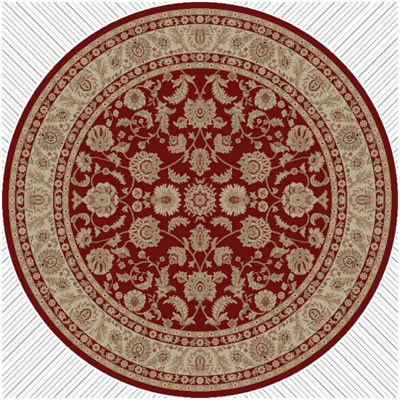 Concord Global Trading Imperial Collection BergamaRound Area Rug