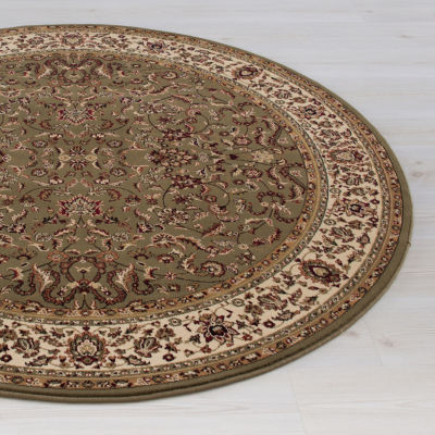 Concord Global Trading Persian Classics CollectionKashan Round Area Rug