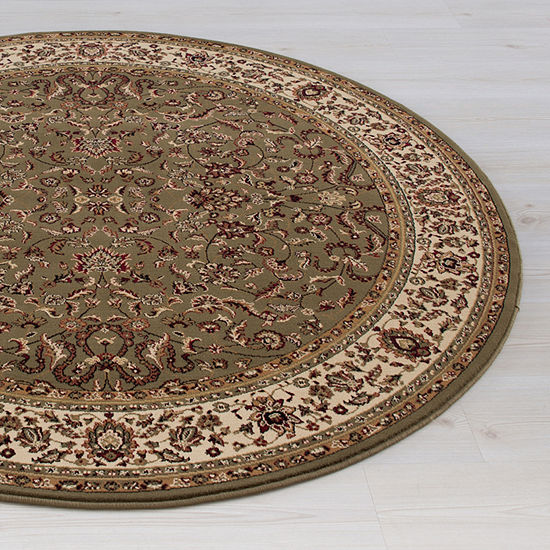Concord Global Trading Persian Classics Collection Kashan Round Area Rug