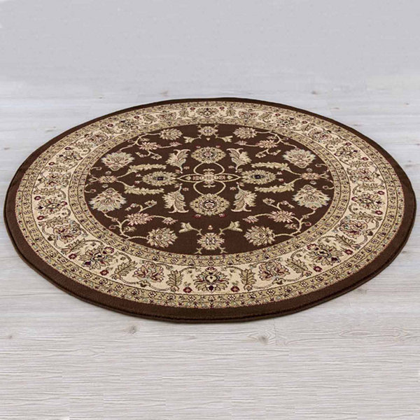 Concord Global Trading Jewel Collection Antep Round Area Rug
