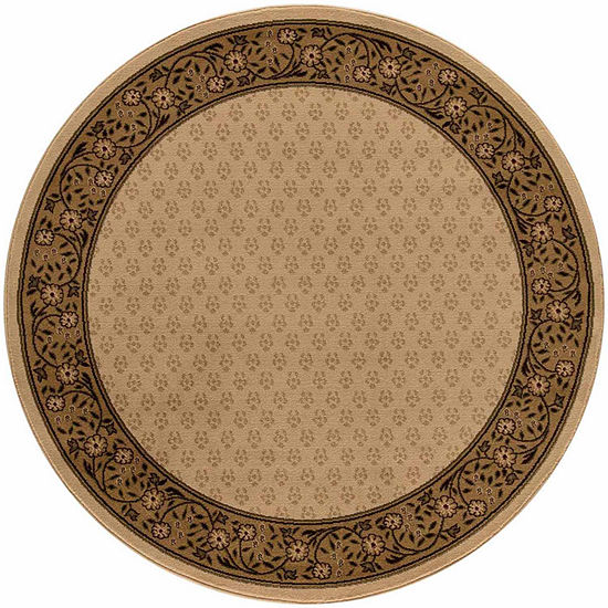 Concord Global Trading Jewel Collection Harmony Round Area Rug