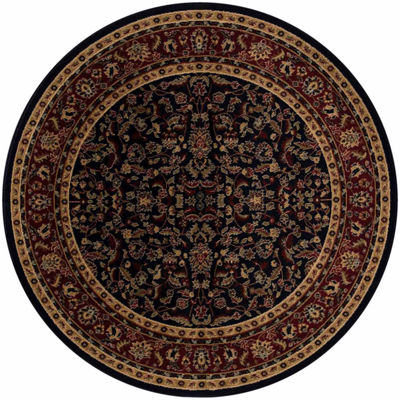 Concord Global Trading Jewel Collection Kashan Round Area Rug