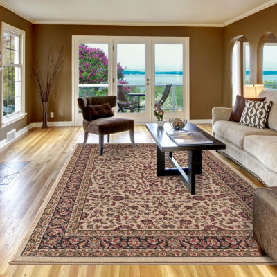 Concord Global Trading Jewel Collection Kashan Border Area Rug