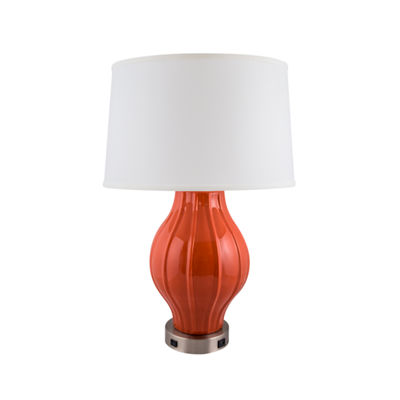 River Ceramic Large Fluted Ceramic Table Lamp