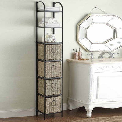 4D Concepts Windsor Bookcase with Baskets