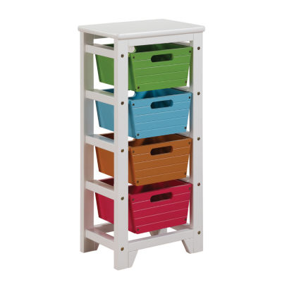 Darvin Storage Rack with 4 Baskets