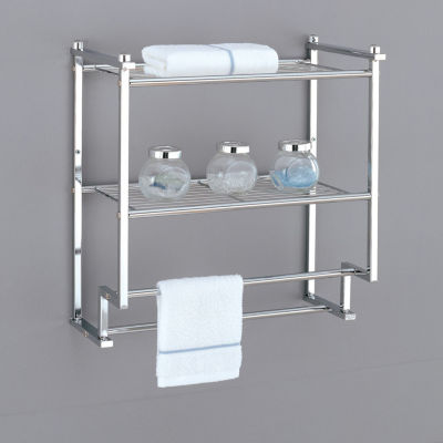 Organize It All 2 Tier Wall Mounting Rack with Towel Bars