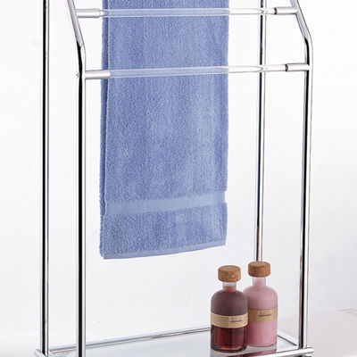 Organize It All 3 Bar Towel Rack w/ Bottom Shelf