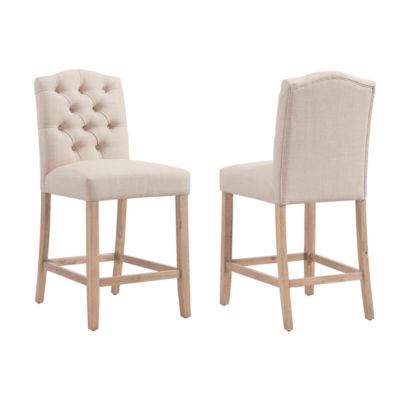Lucian Tufted Upholstered Counter Stool- Set of 2