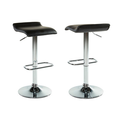 Fabia II Adjustable Height Fabric Stool- Set of 2
