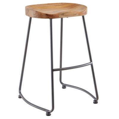 Moka Solid Wood/Metal Counter Stool- Set of 2