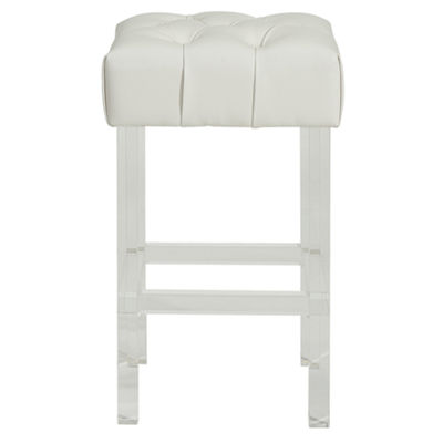 Noor Bonded Leather/Acrylic Counter Stool