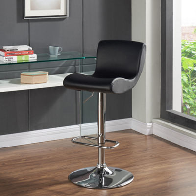 Silvio Adjustable Height Faux Leather Stool- Set of 2