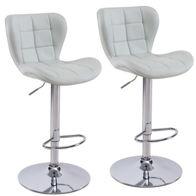Liam Adjustable Faux Leather Stool- Set of 2